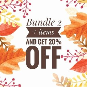 Bundle 2 + items and get 20% off